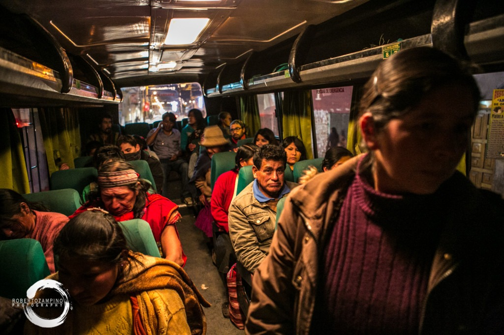 "bus ride - crowded night ""combi"" cuzco peru"