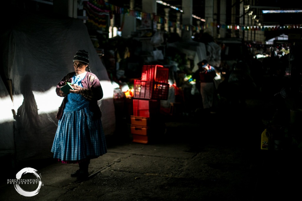 san pedro market - beam of light - cuzco peru