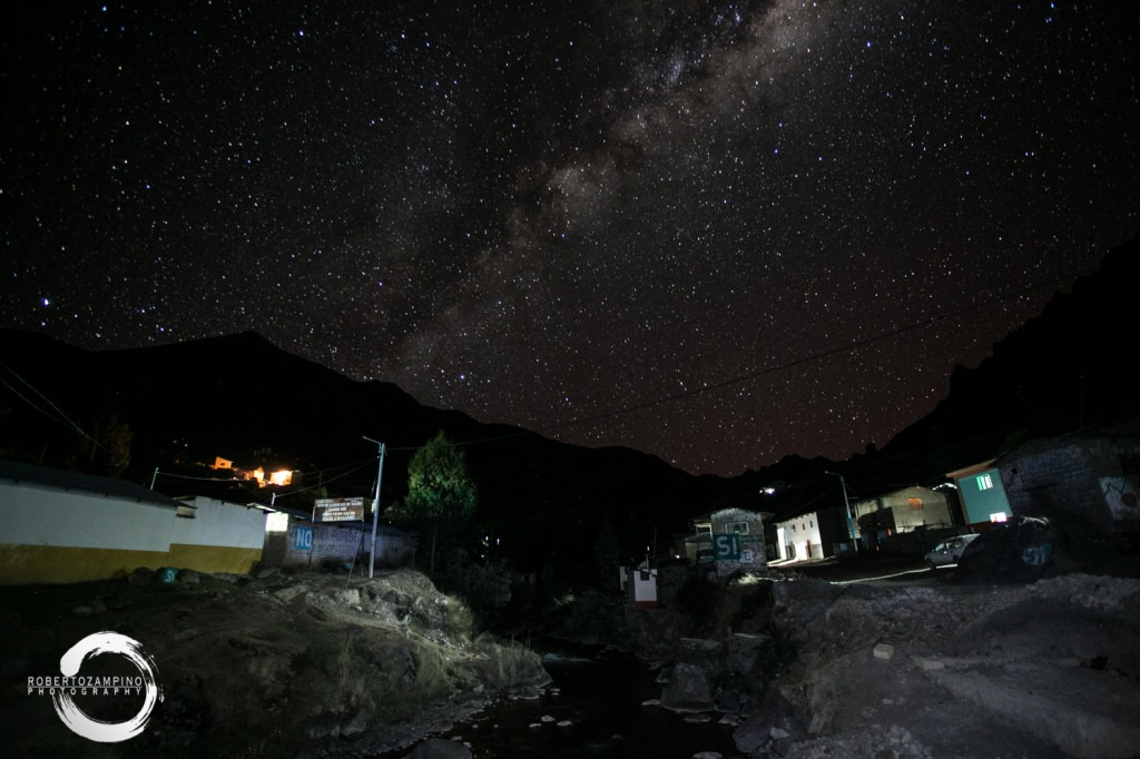 sky up in the andes 4000m above the level of the sea - chillihuani village -quechua isolated community in peru