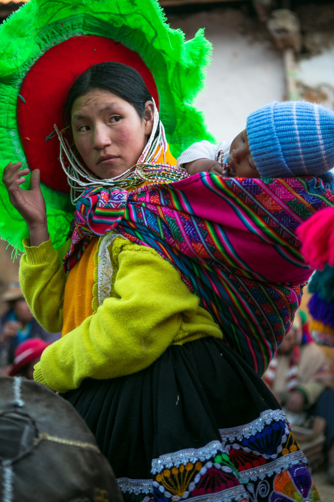 portrait of a andin woman and housewife - chillihuani village -quechua isolated community in peru