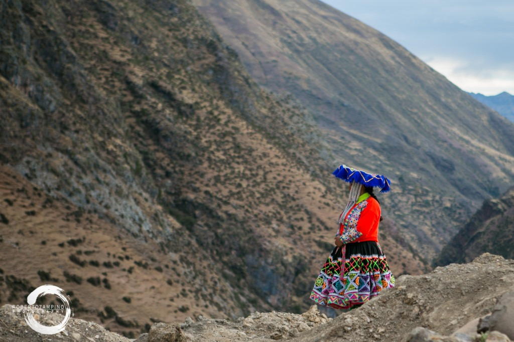 Chillihuani community - quechua community family living isolated in the andes - cuzco region - peru