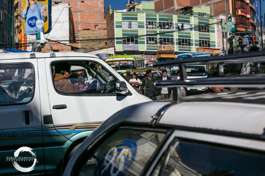 ordinary life - bustle and hustle from the highest capital - bolivia - la paz market - old dodge bus
