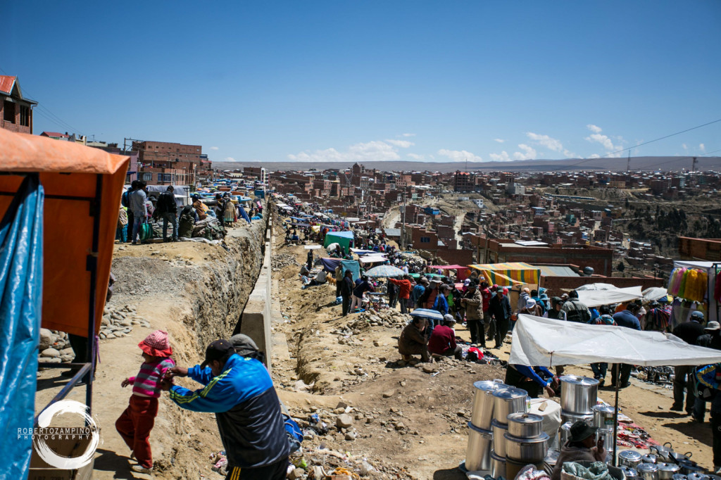 el alto - biggest market in south america - la paz bolivia