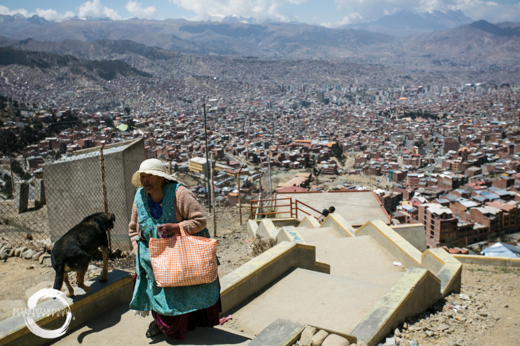 la paz -highest capital in the world - el alto market