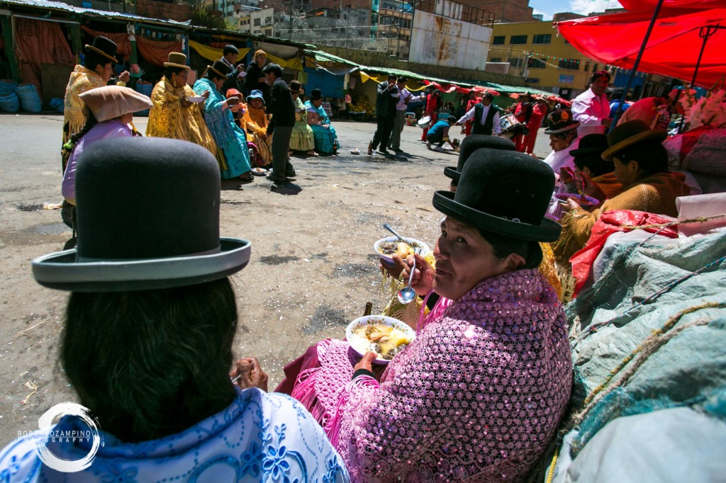 people life in bolivia - north side of the market area