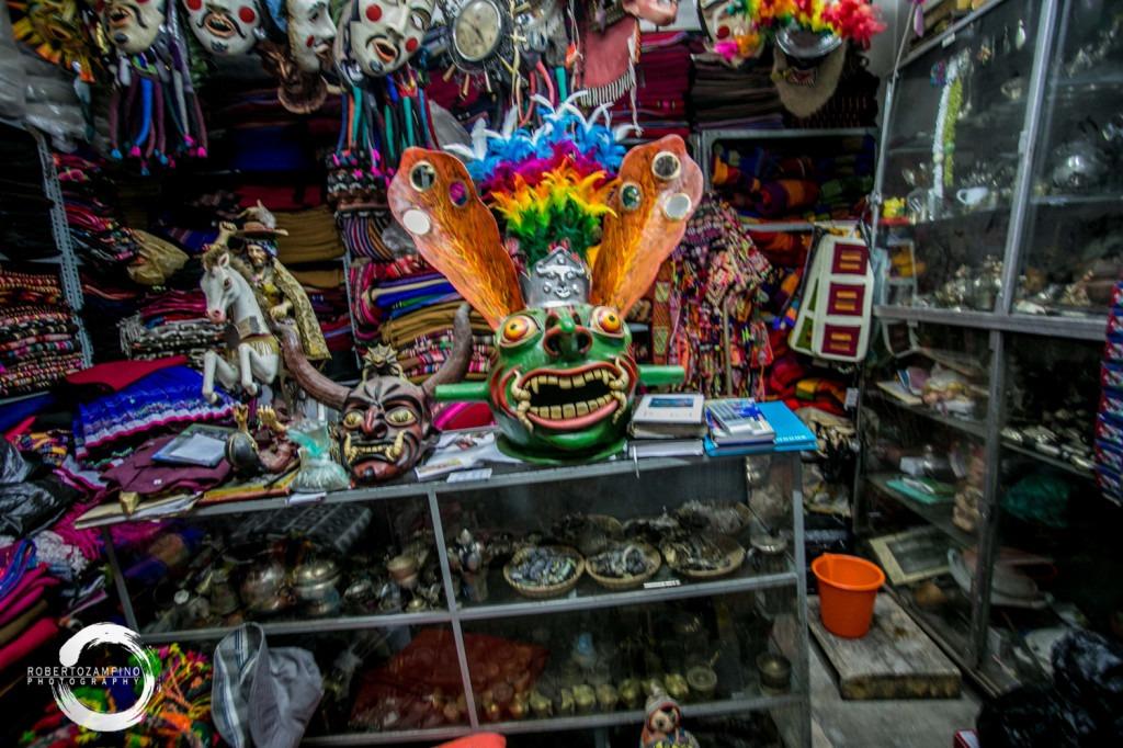 bolivian mask - la paz - carnival