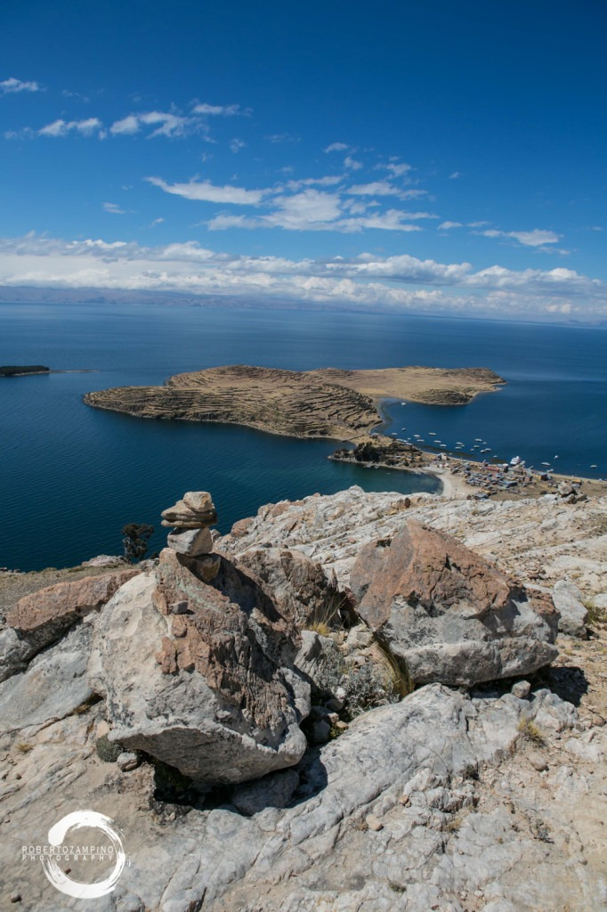 isla del sol bolivia - panoramic view